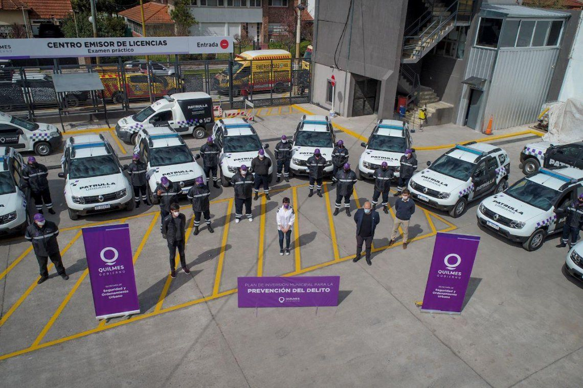 Nuevas patrullas urbanas en Quilmes