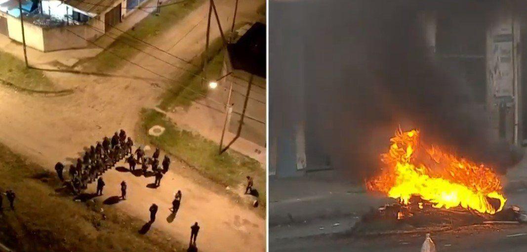 Tensión en Laferrere: incidentes entre la policía y los manifestantes en la marcha por Tahiel