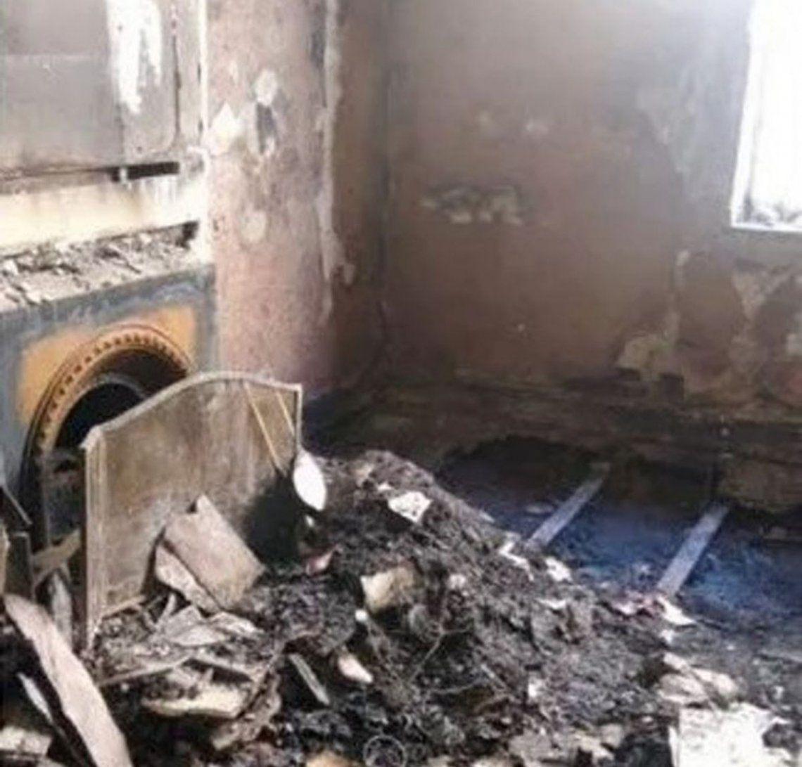 Muerte Elsa Serrano: se conocieron las impactantes fotos del departamento tras el incendio