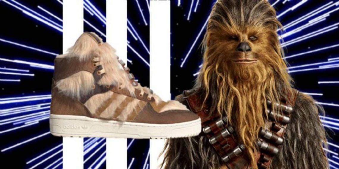 Sacan a la venta zapatillas inspiradas en Chewbacca a 40 años del estreno de El imperio contraataque