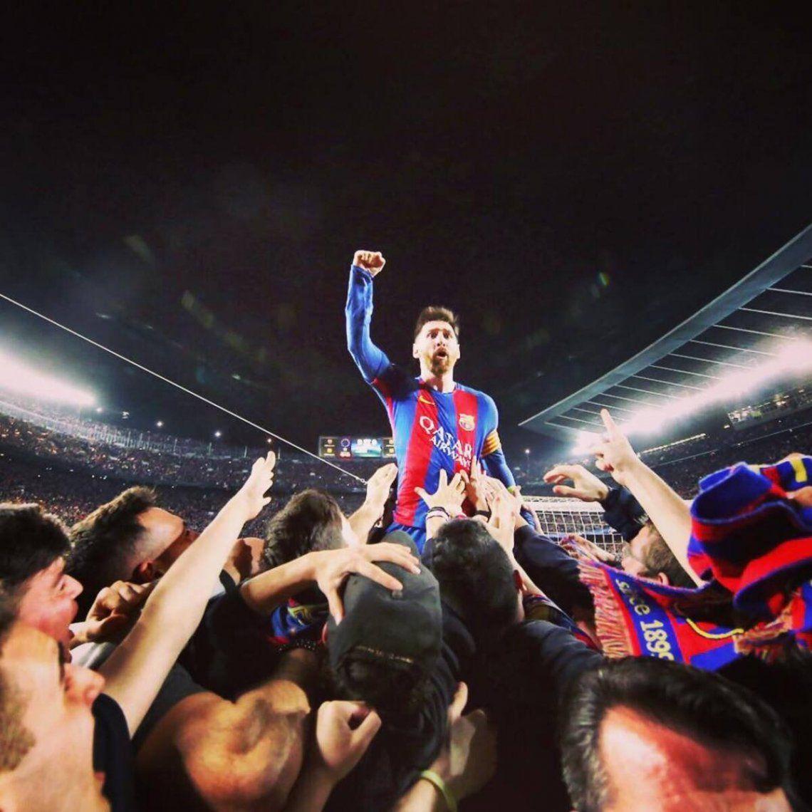 El Barça celebra los 20 años de Messi en el club
