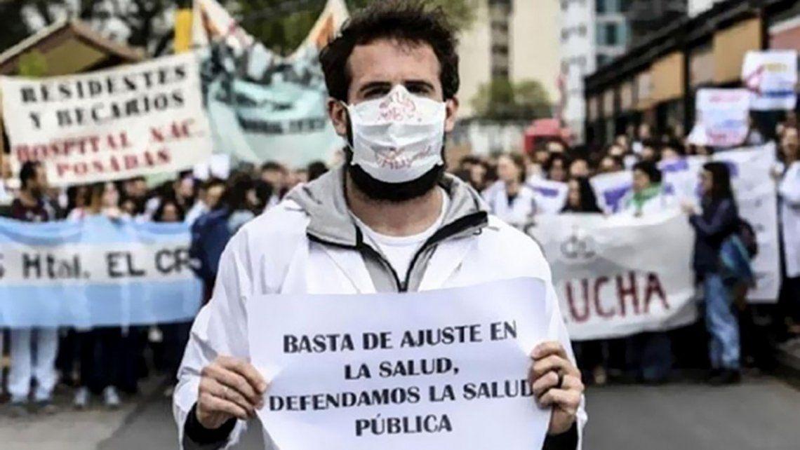 Día de la Sanidad: enfermeros de la Ciudad se movilizan al Congreso en reclamo por condiciones laborales
