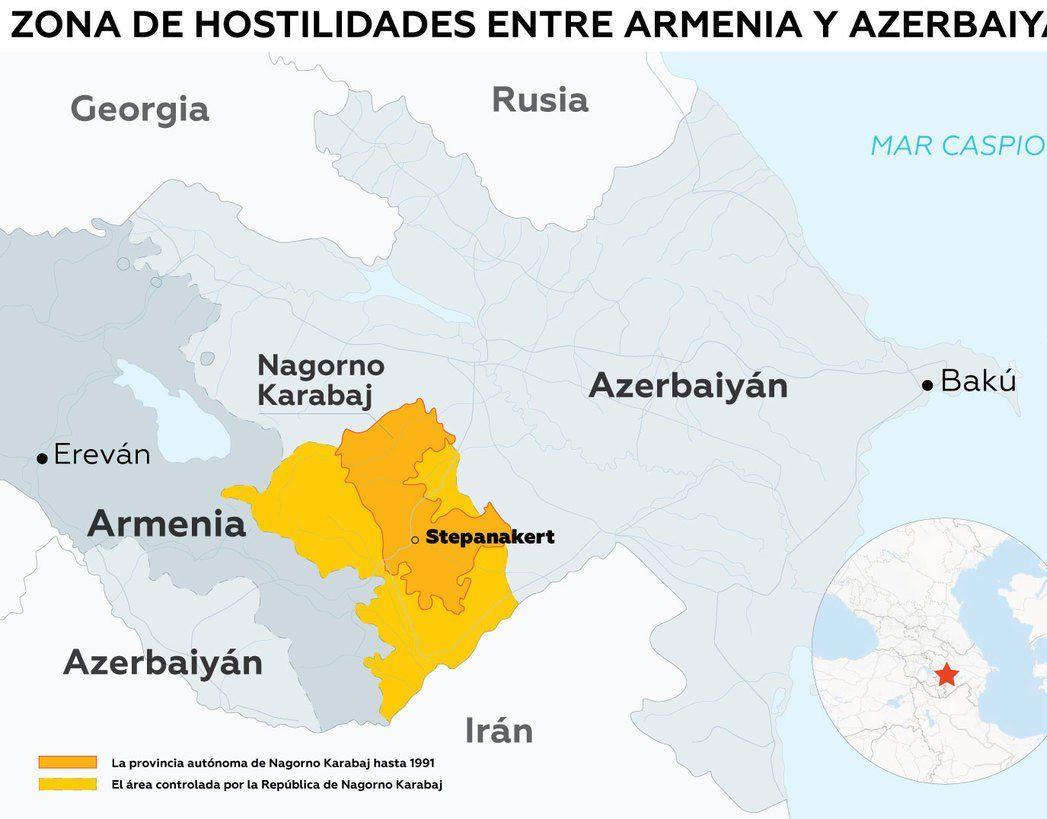 Azerbaiyán y Armenia se encuentran al borde de la guerra tras protagonizar un nuevo choque armado