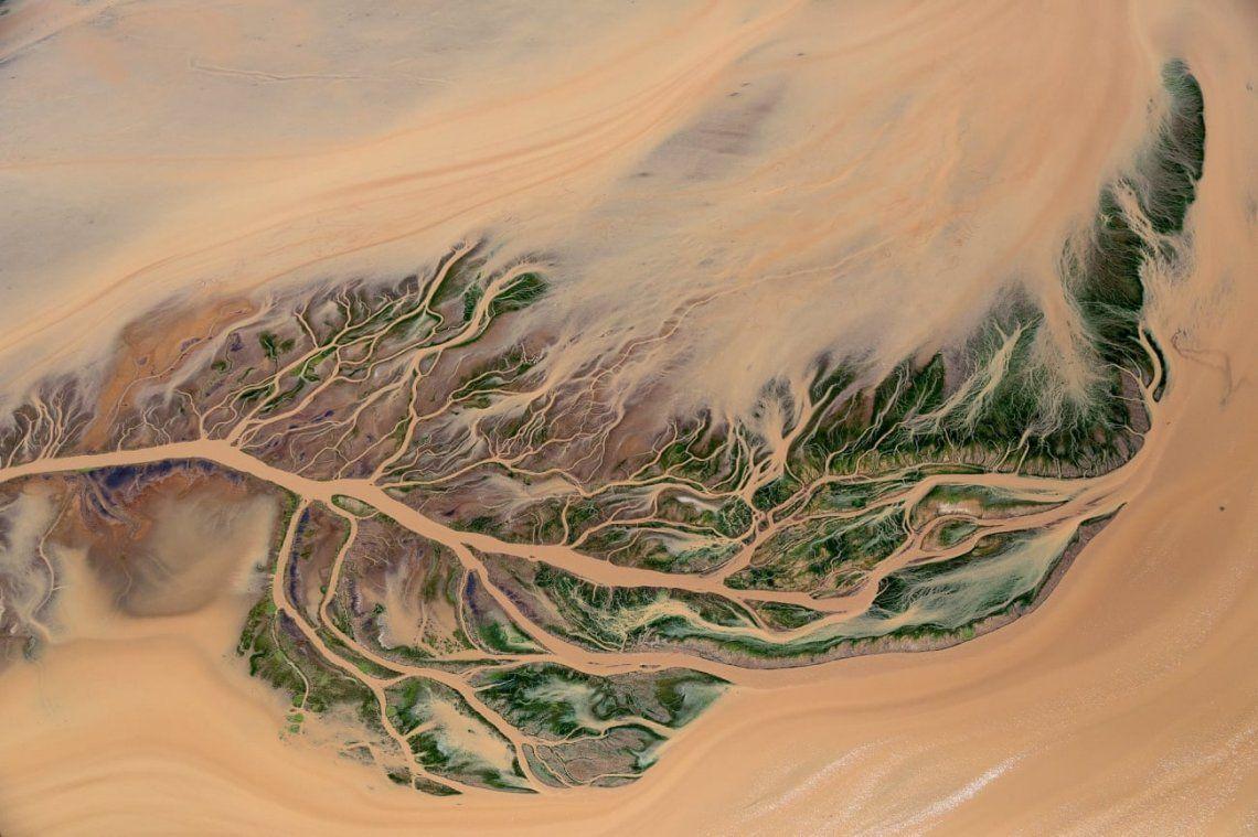 Diseño del delta delta del río Ewaso Ngiro meridional