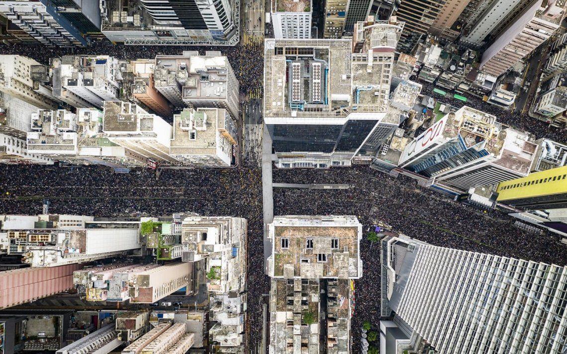 Marcha en Hong Kong. Fotografía: Tugo Cheng
