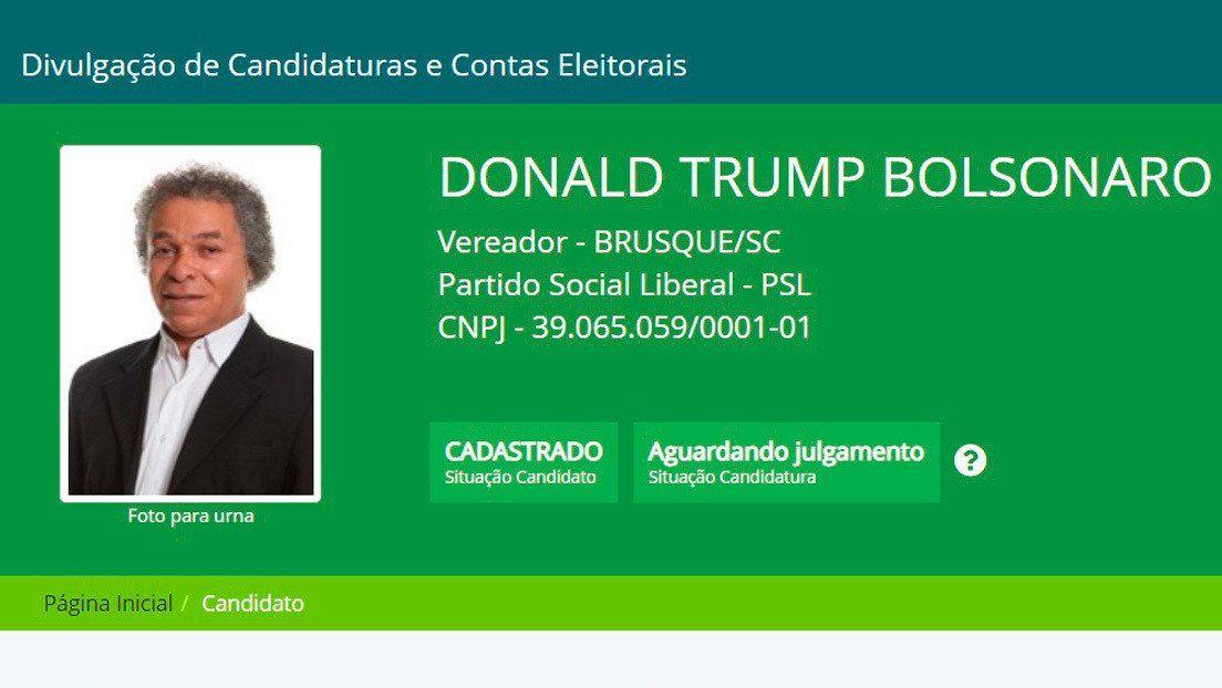 Candidato brasileño a concejal usará el nombre de Donald Trump Bolsonaro
