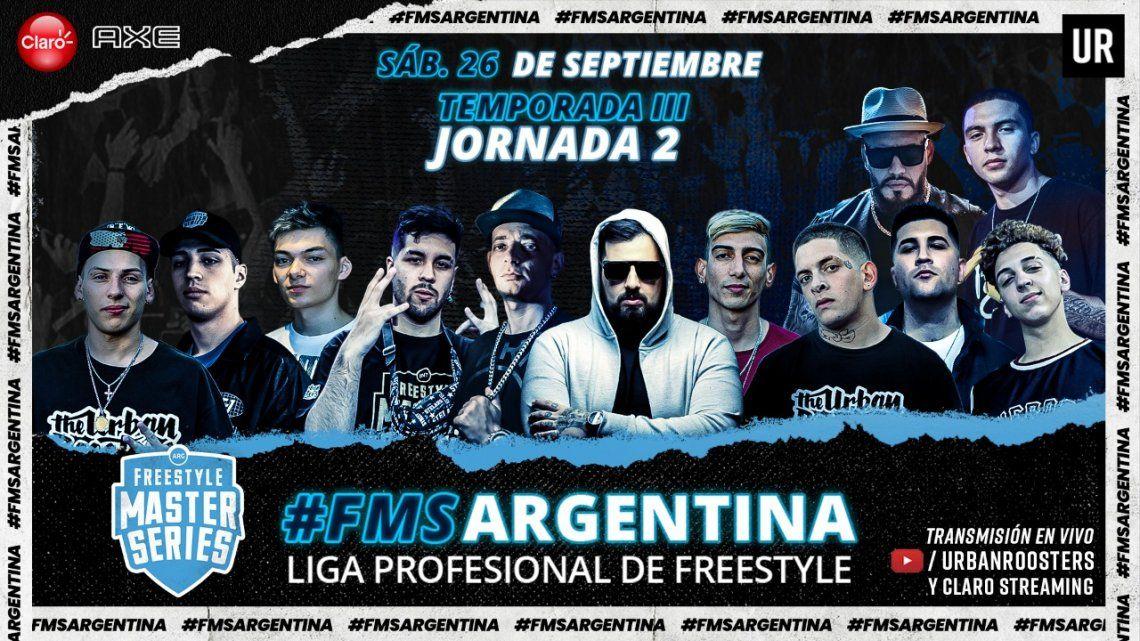 Posiciones de los raperos argentinos en la segunda fecha del campeonato de FMS