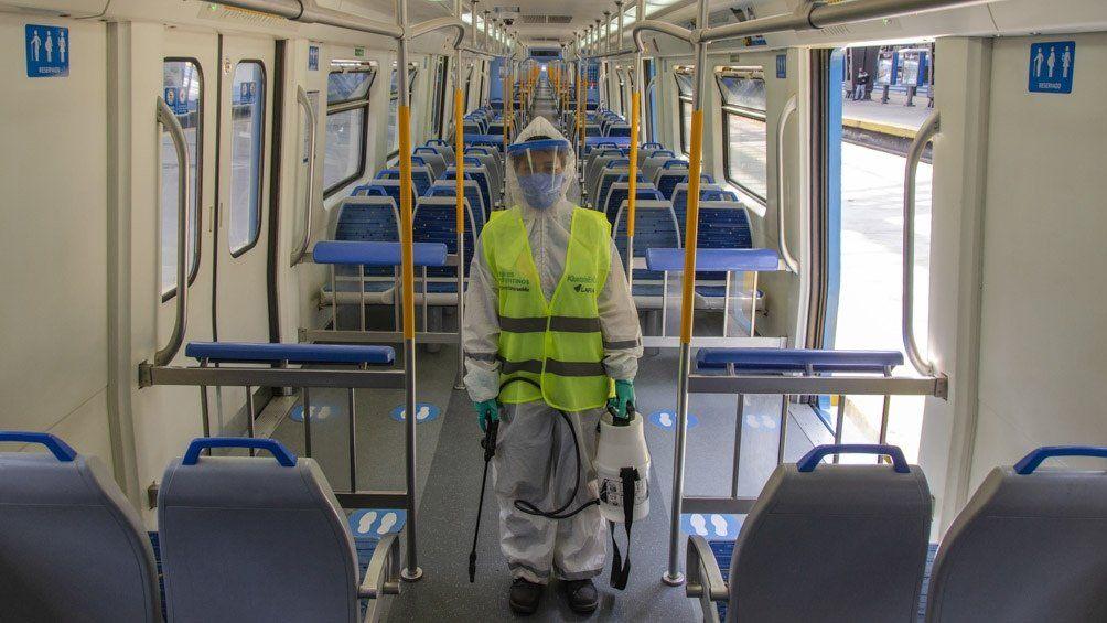 Nueva fórmula sanitizante contra el Covid 19 para el transporte público