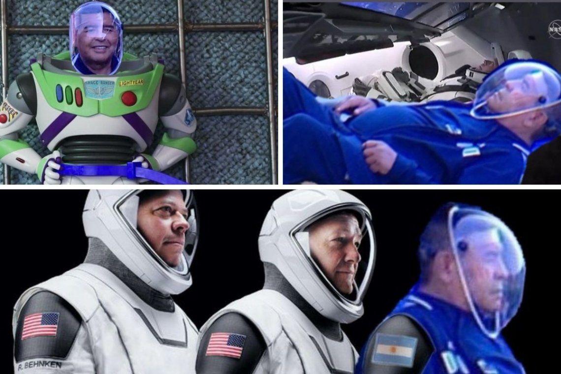 Los memes más divertidos por el look astronauta de Diego Maradona