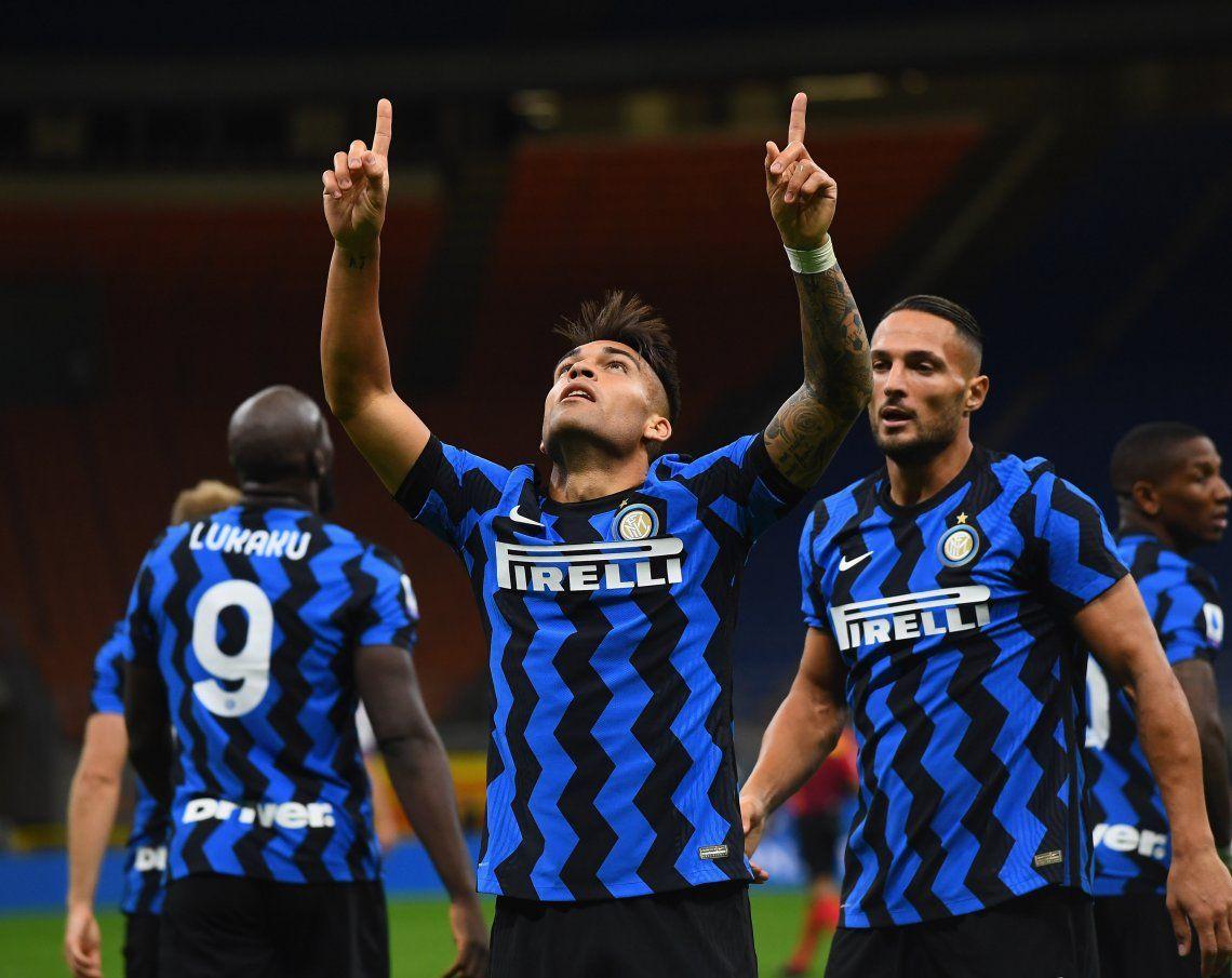 Lautaro Martínez la volvió a meter y el Inter goleó en Italia