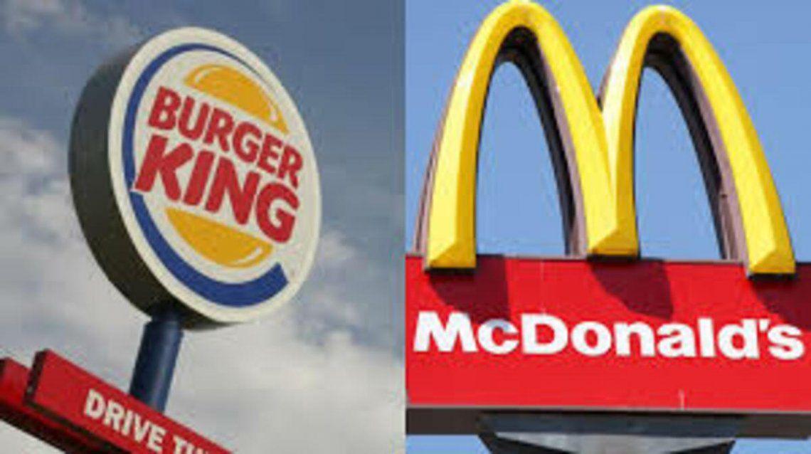 La insólita cargada de Burger King a Mc Donalds en Roland Garros