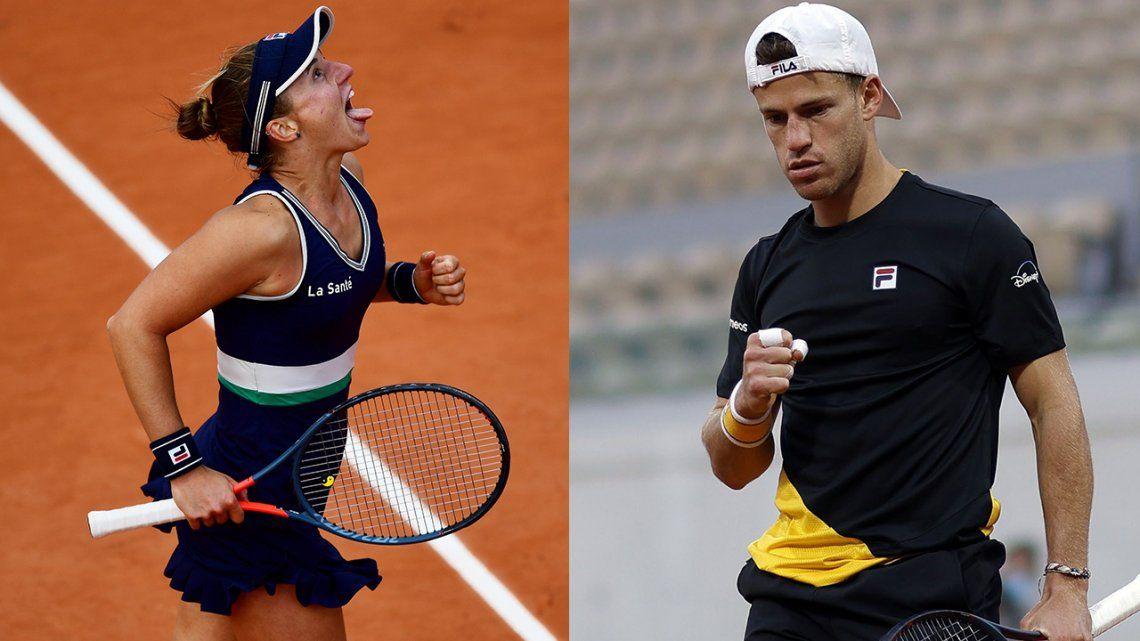 Roland Garros: cuándo vuelven a jugar Nadia Podoroska y Diego Schwartzman
