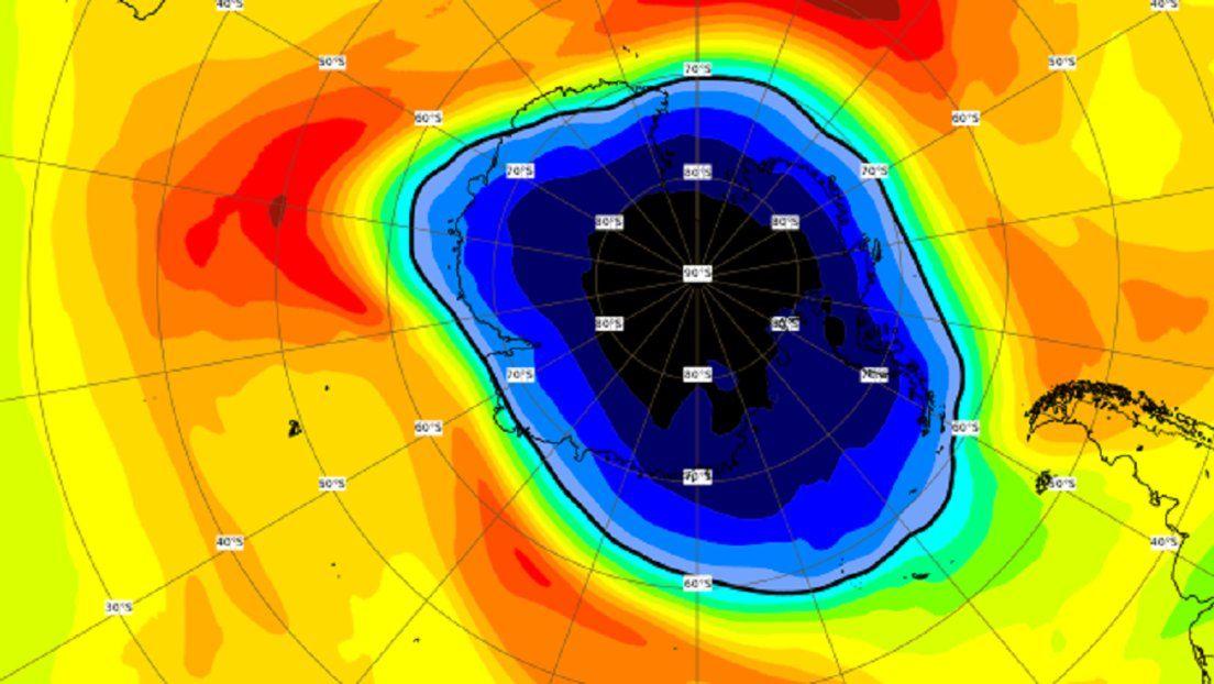 El agujero en la capa de ozono producido en 2020 sobre la Antártida es el más grande de los últimos años