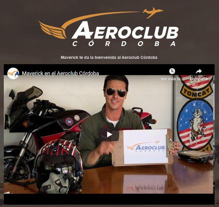 El Maverick cordobés que promueve el Aeroclub de la provincia. ¡Una genialidad!