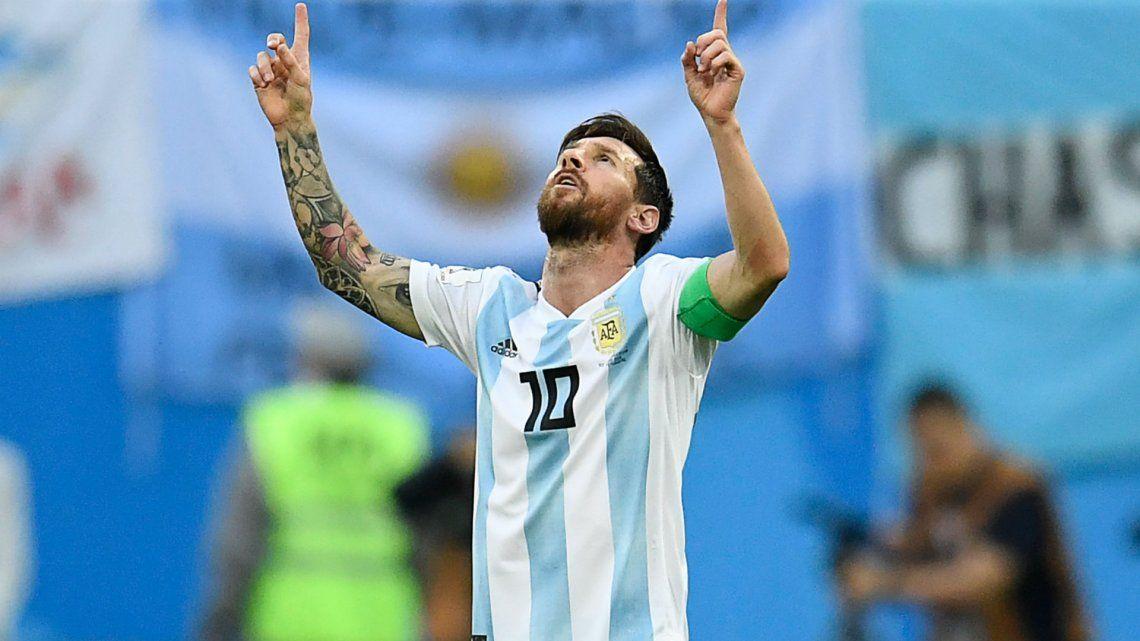 De la mano de Lio Messi