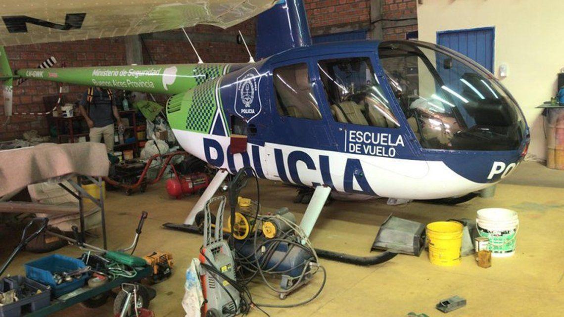 Hallan un helicóptero con logo de Policía bonaerense en Paraguay
