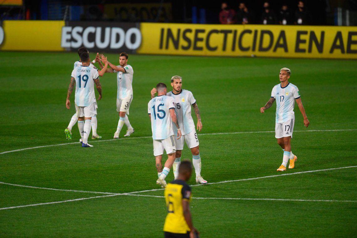 La victoria de la Selección Argentina ante Ecuador, en fotos
