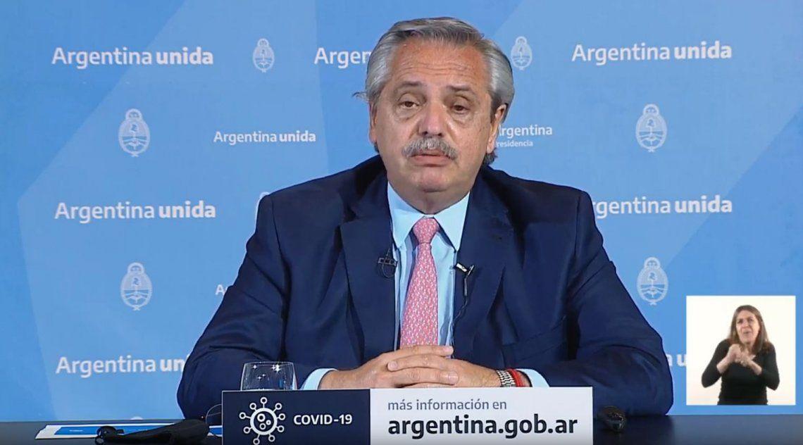 Fernández anunció restricción de la circulación en 18 provincias y la extensión de la cuarentena hasta el 25 de octubre