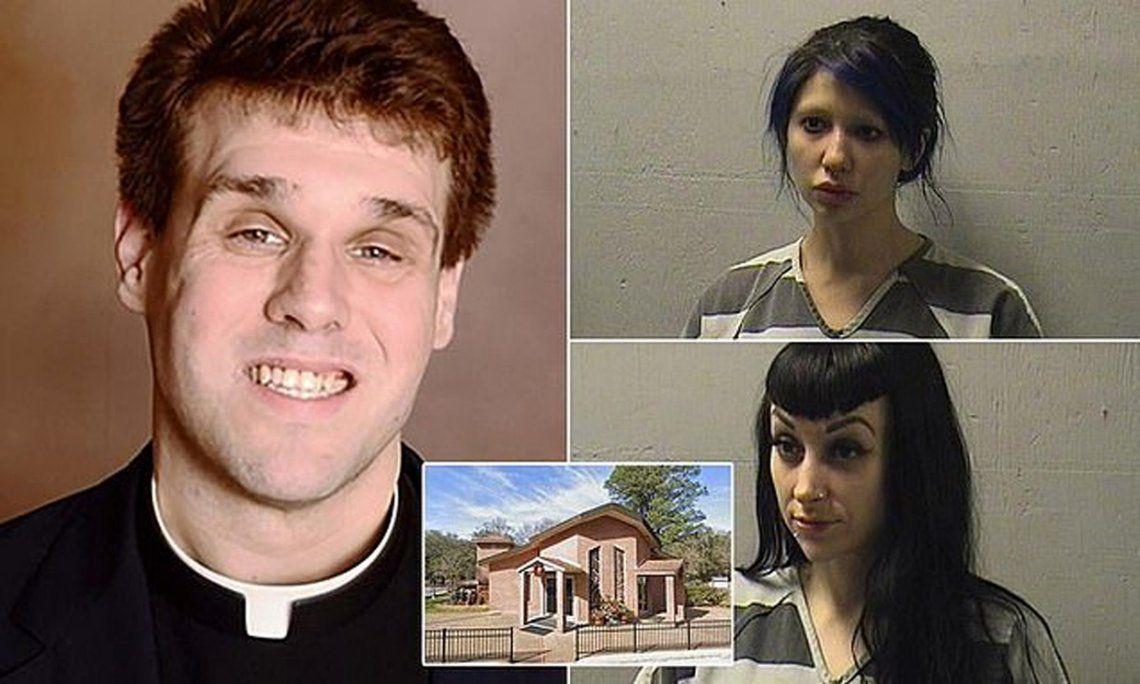 El sacerdote Travis Clark, de 37 años, fue detenido luego de mantener relaciones sexuales con dos prostitutas en el altar de su iglesia