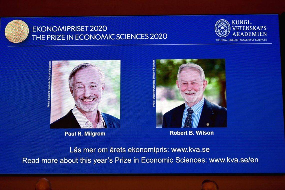 La Academia de las Ciencias de Suecia premió los estadounidensesPaul Milgrom y Robert Wilson como ganadores del Premio Nobel de Economía