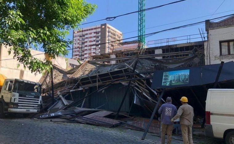 Derrumbe en un edificio en construcción en Belgrano