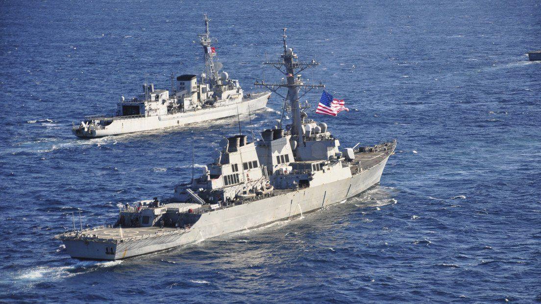 En plena tensión con China, un destructor estadounidense cruzó el estrecho de Taiwán