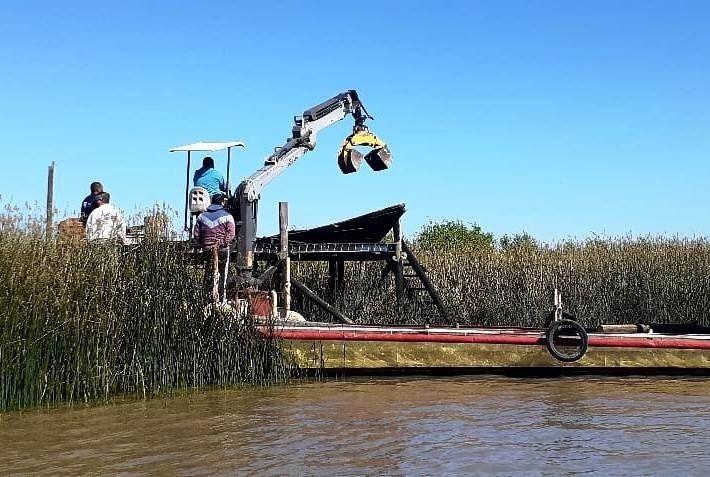Operativo contra construcciones irregulares en el Delta