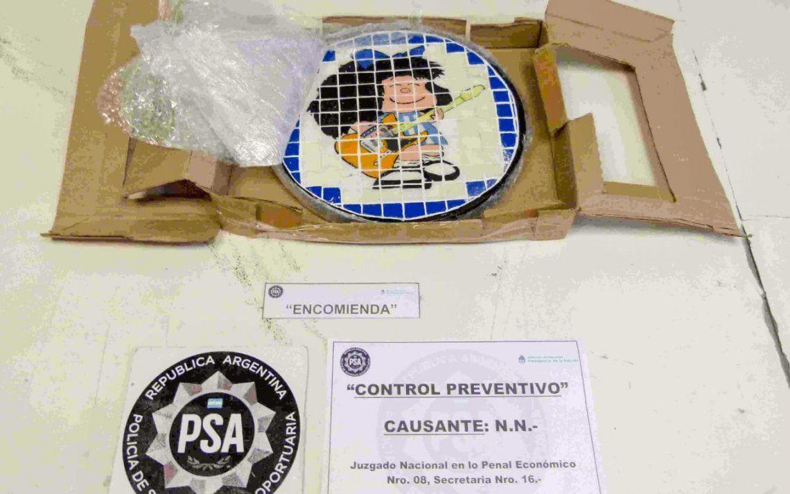 Desbaratan una banda narco que traficaba a Holanda en artesanías con la imagen de Mafalda