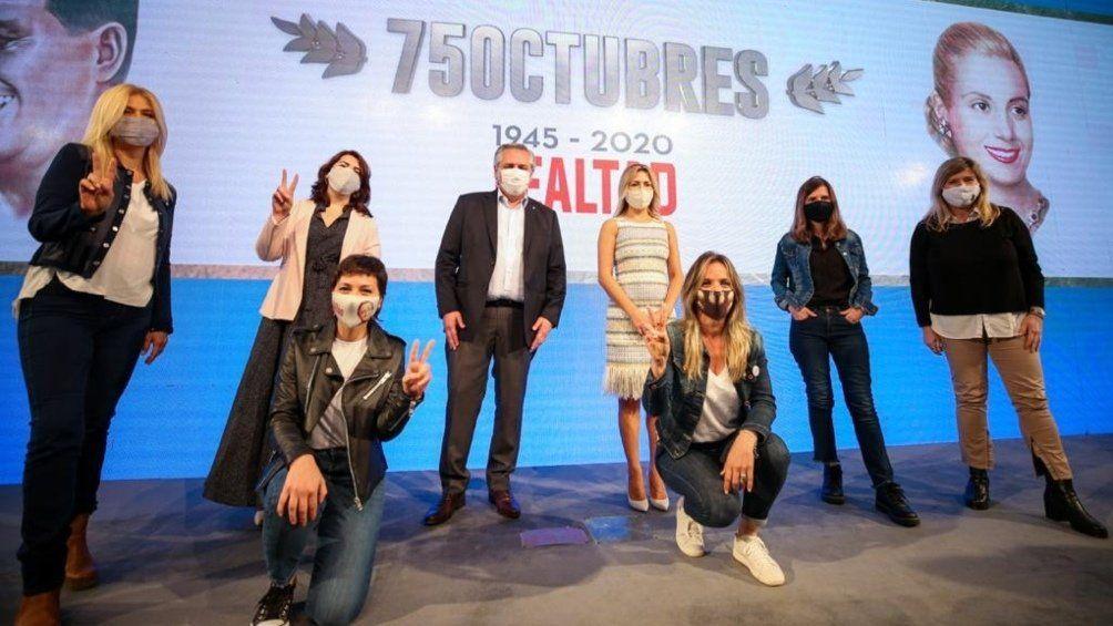 El presidente Alberto Fernández fue el orador central del acto del Día de la Lealtad peronista