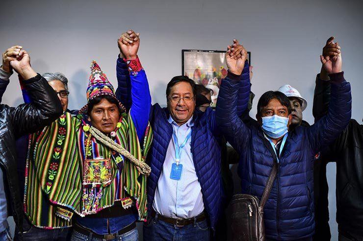 Luis Arce del MAS habría ganado las elecciones en Bolivia con más del 52% de los votos
