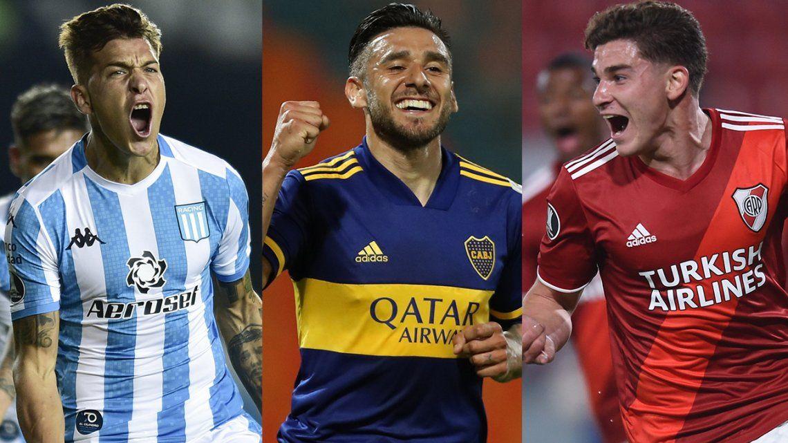 Semana de Copa Libertadores: Boca, Racing y River buscarán terminar lo más arriba posible