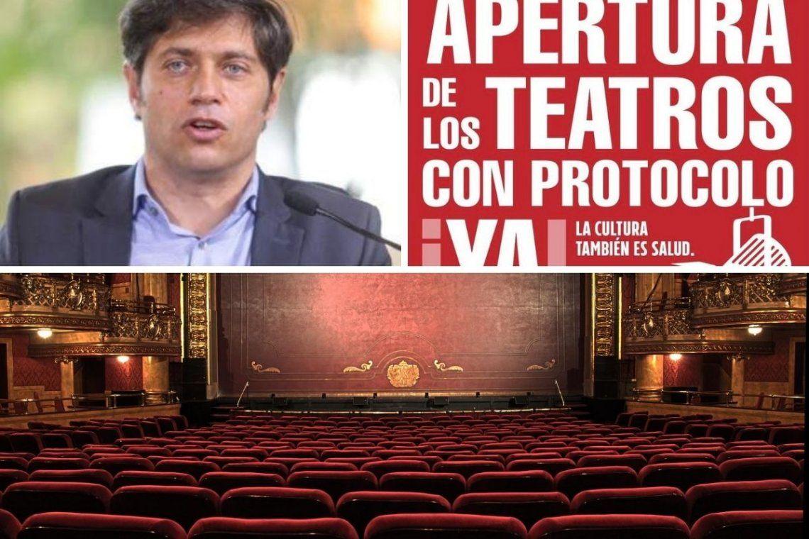 Temporada de teatro: Kicillof busca soluciones y productores piden reaperturas