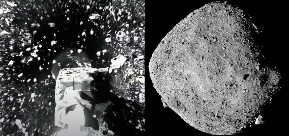 La NASA publicó nuevas imágenes de la superficie del asteroide Bennu