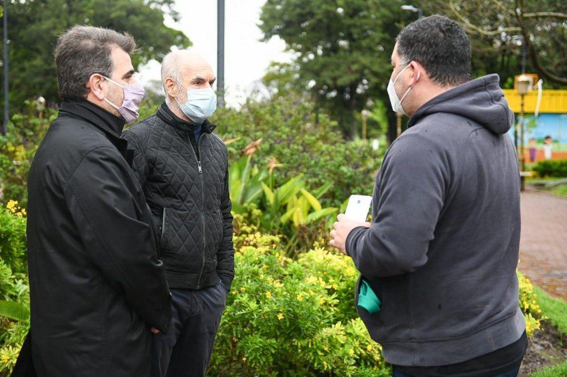 Parque Chacabuco: Rodríguez Larreta y Ritondo se reunieron con vecinos para conocer sus inquietudes