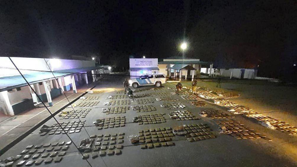 Corrientes: secuestran más de una tonelada de marihuana a la vera del río Paraná