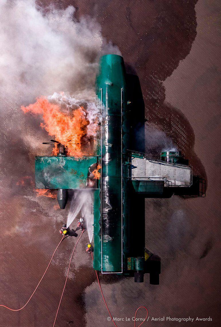 Primer lugar en categoría documental: Ataque de fuego