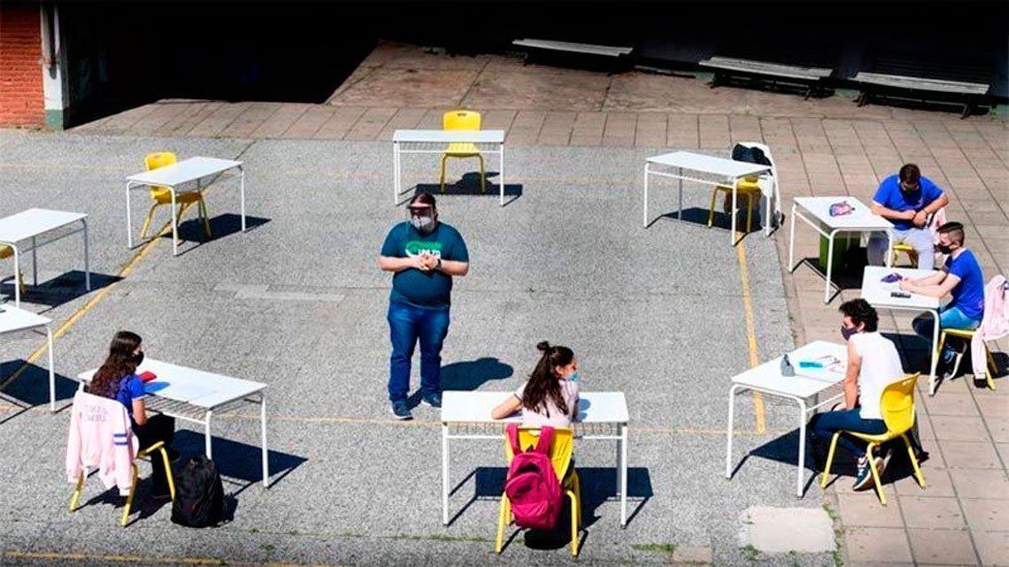Confirman el primer caso de coronavirus desde la reapertura de las escuelas en la ciudad de Buenos Aires
