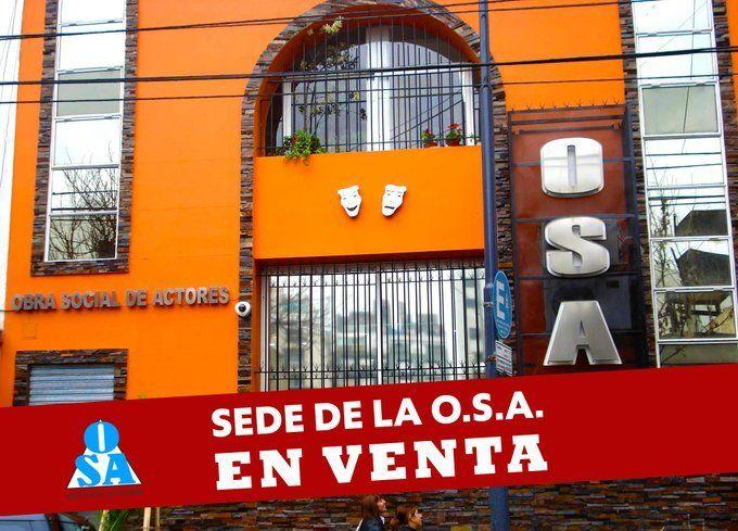 La sede de la Obras Social de Actores está en venta por la grave situación financiera que atraviesa