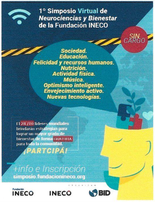 La fundación INECO realizará su primer simposio virtual el 28 de octubre