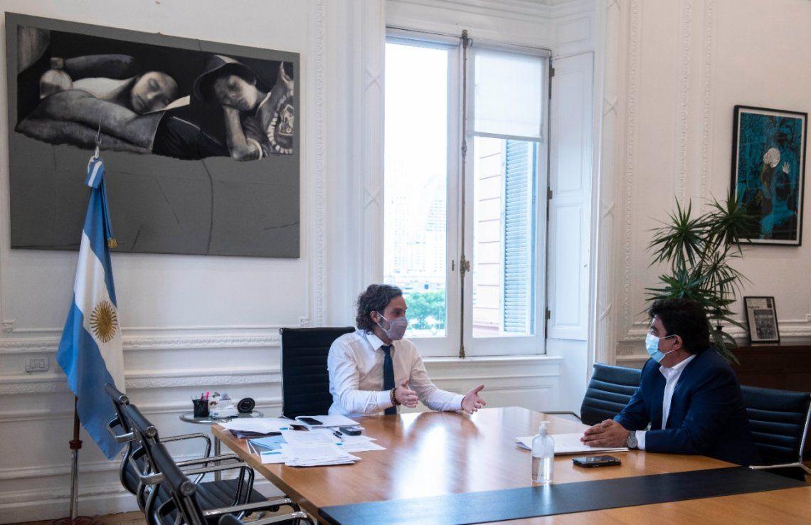 Fernando Espinoza se reunió con Santiago Cafiero en la Rosada