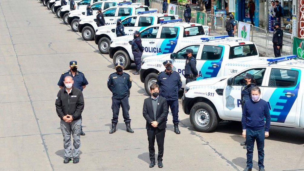 Esteban Echeverría: Axel Kicillof entregó 60 patrulleros y 300 cámaras de seguridad