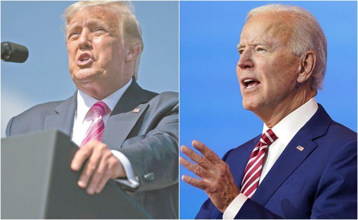 Trump y Biden protagonizan una elección reñida