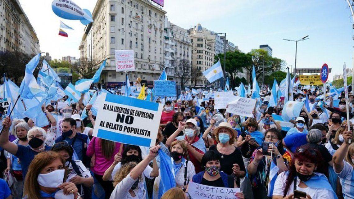 8N - Se desarrolla la novena protesta desde junio pasado