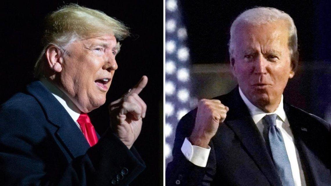 Cruce entre Trump y Biden.