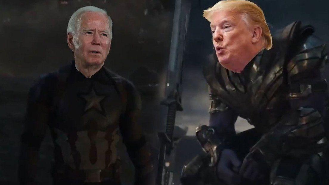 Biden y Trump, protagonistas de una sátira de Vengadores: Endgame