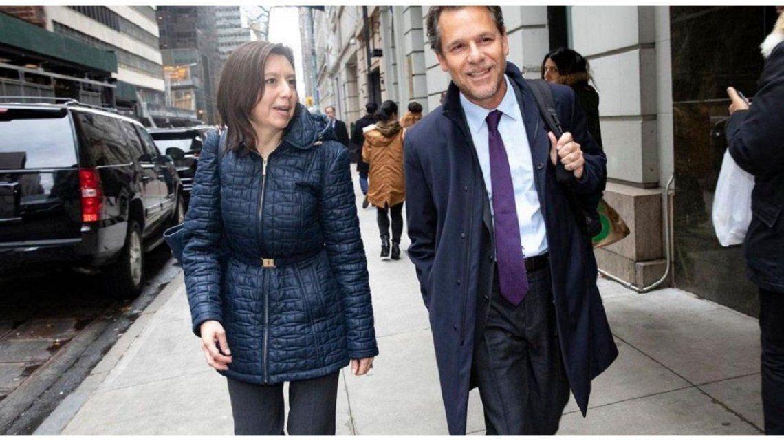 Julie Kozack y Luis Cubeddu, los enviados del FMI.