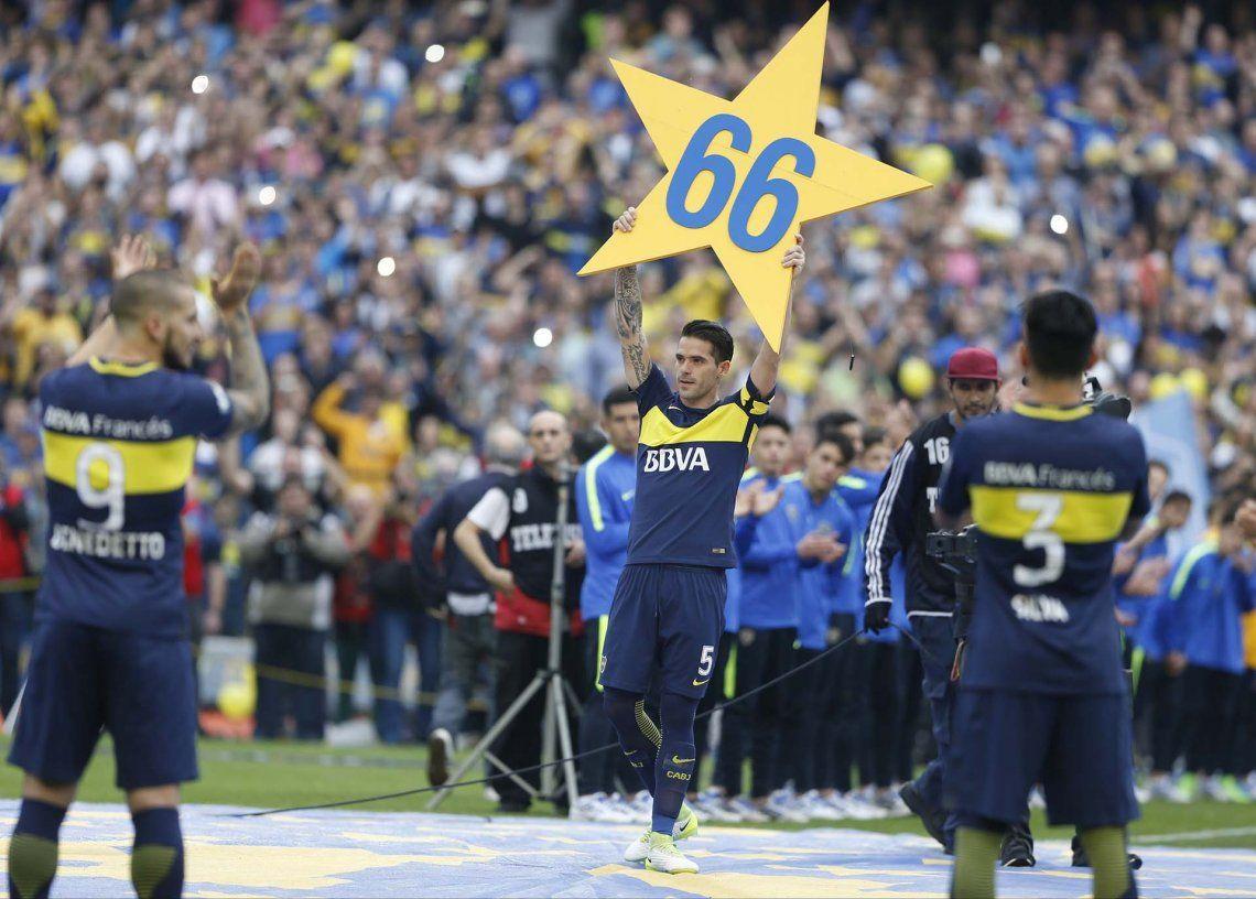 Campeón y capitán del Boca 2016