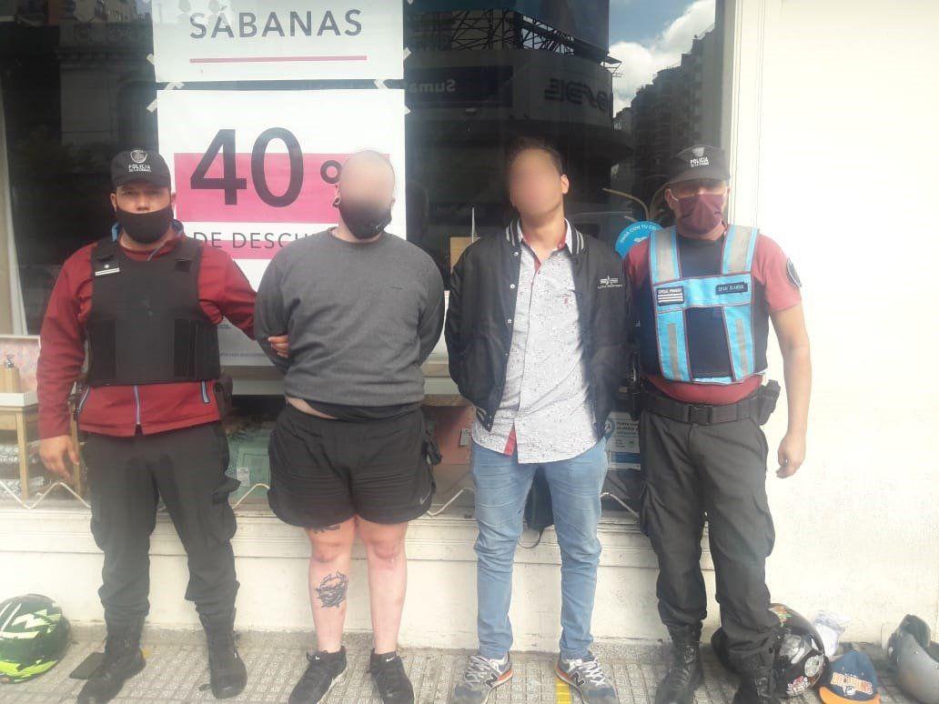 La Policía de la Ciudad detuvo a dos motochorros en Belgrano