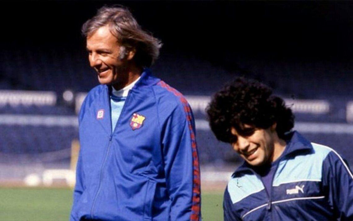 Diego Maradona saludó a todos los técnicos, pero destacó a Menotti
