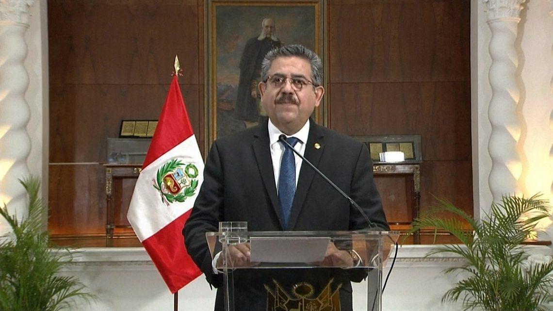 Manuel Merino en conferencia de prensa